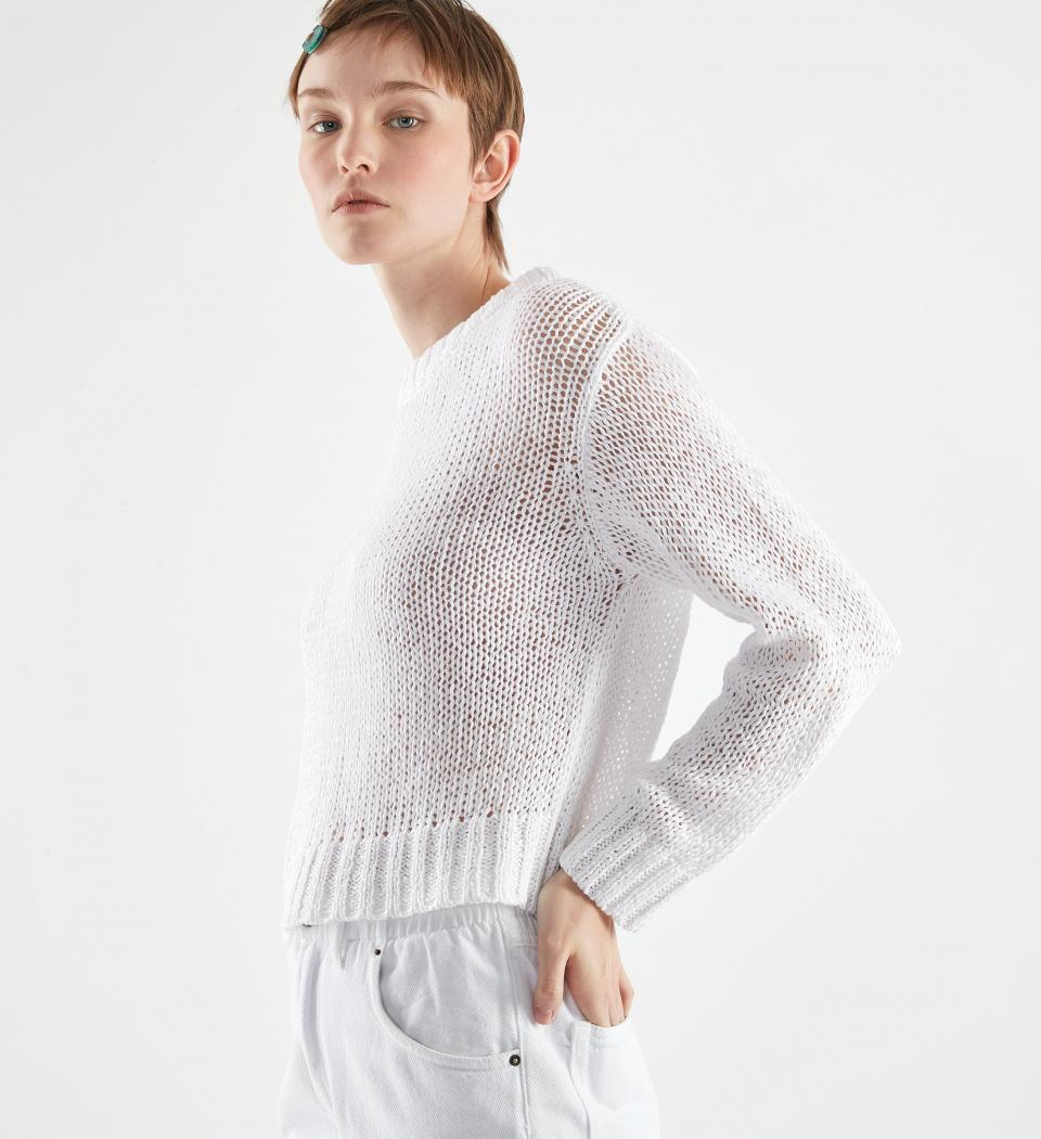 pullover leda weiss 17698